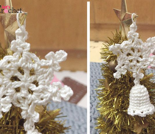 Christmas Bell With Sonwflake Free Crochet Pattern