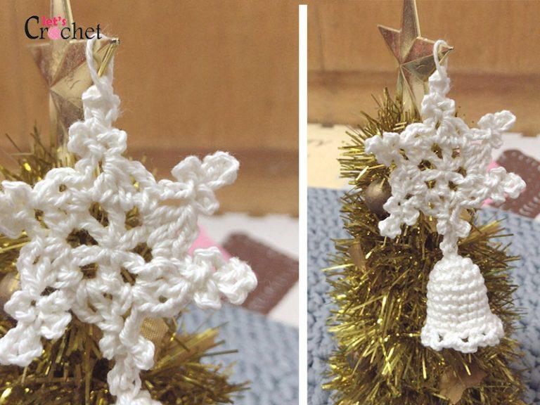 Christmas Bell/Snowflake Free Crochet Pattern