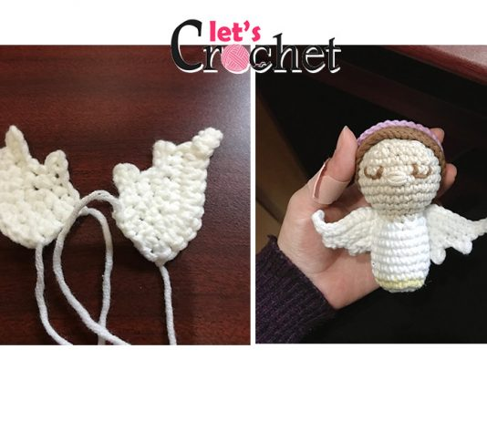 Angel Kokeshi free crochet pattern