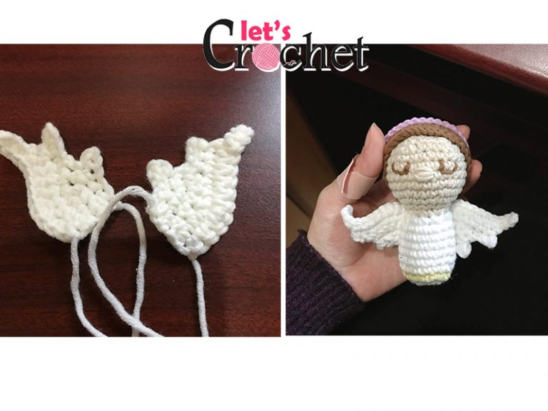 Angel Kokeshi free crochet pattern