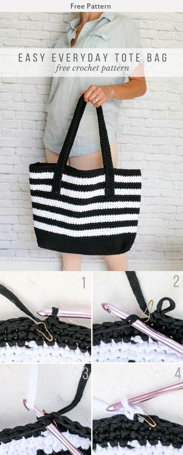 Crochet Easy Tote Bag Free Pattern