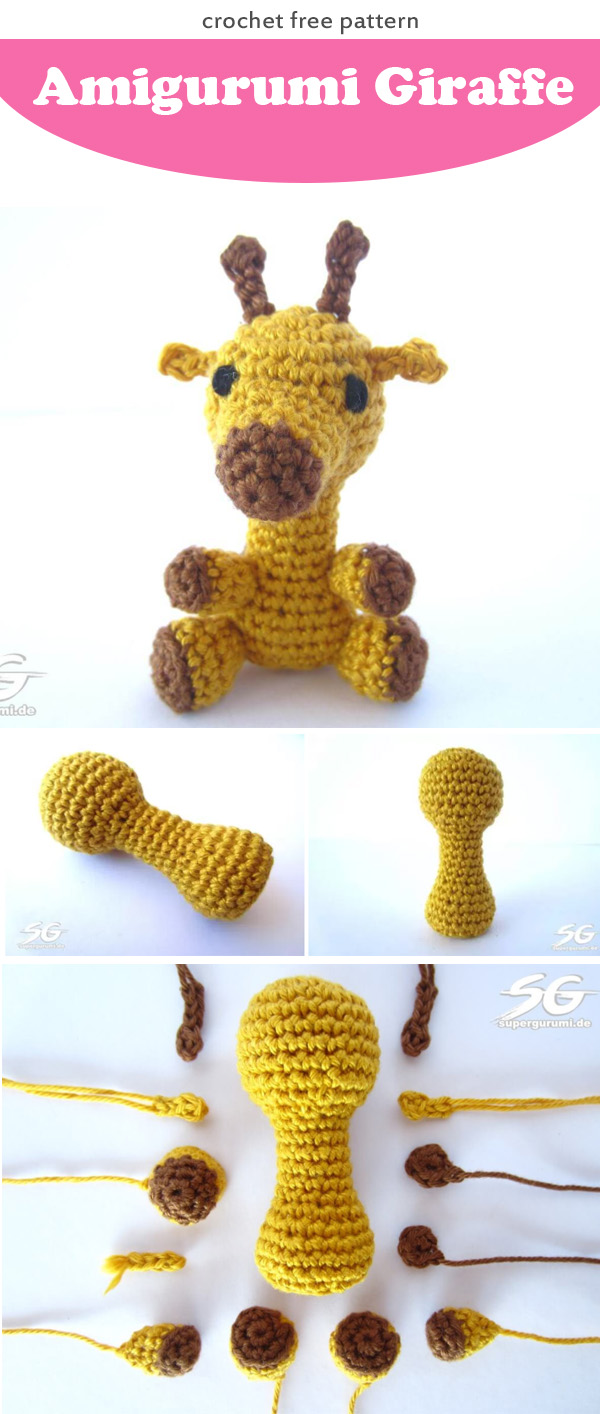 Amigurumi Crochet Giraffe Pattern by Little Bear Crochets | 1414x600