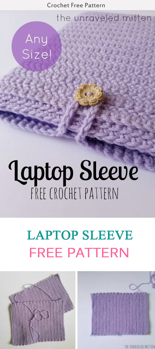 Laptop Sleeve Crochet Free Pattern