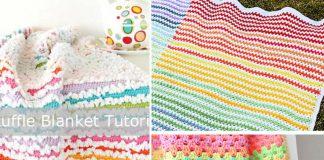 Granny Stripe Crochet Blanket Free Pattern