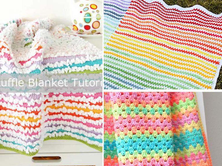 The 3 Rainbow Blanket Crochet Free Pattern