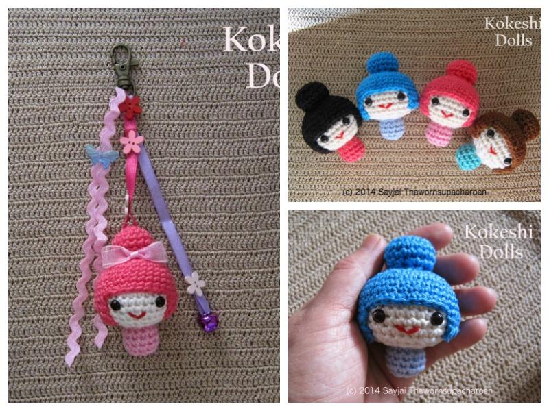 Amigurumi Kokeshi Doll Pattern : Amigurumi kokeshi dolls free crochet pattern