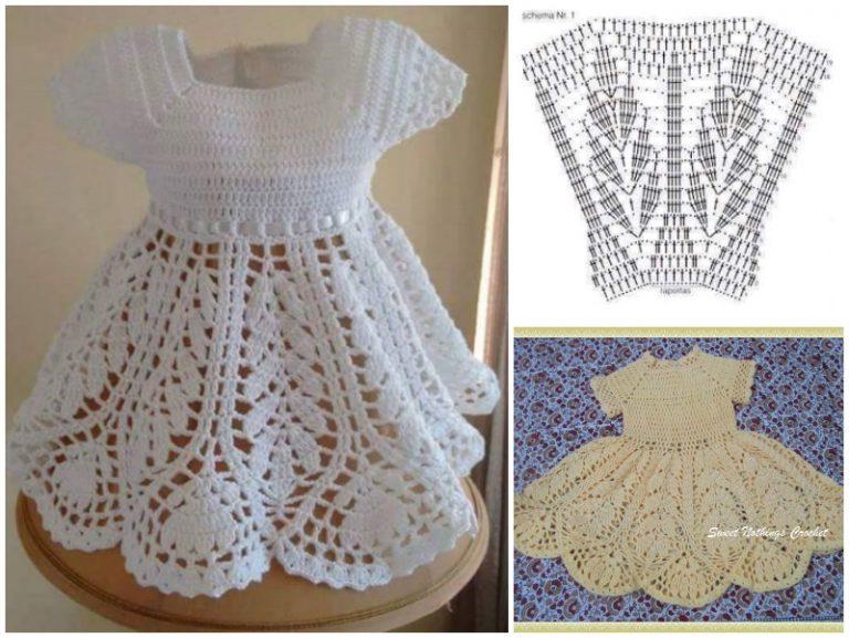 Beautiful Lotus Baby Dress Free Crochet Pattern