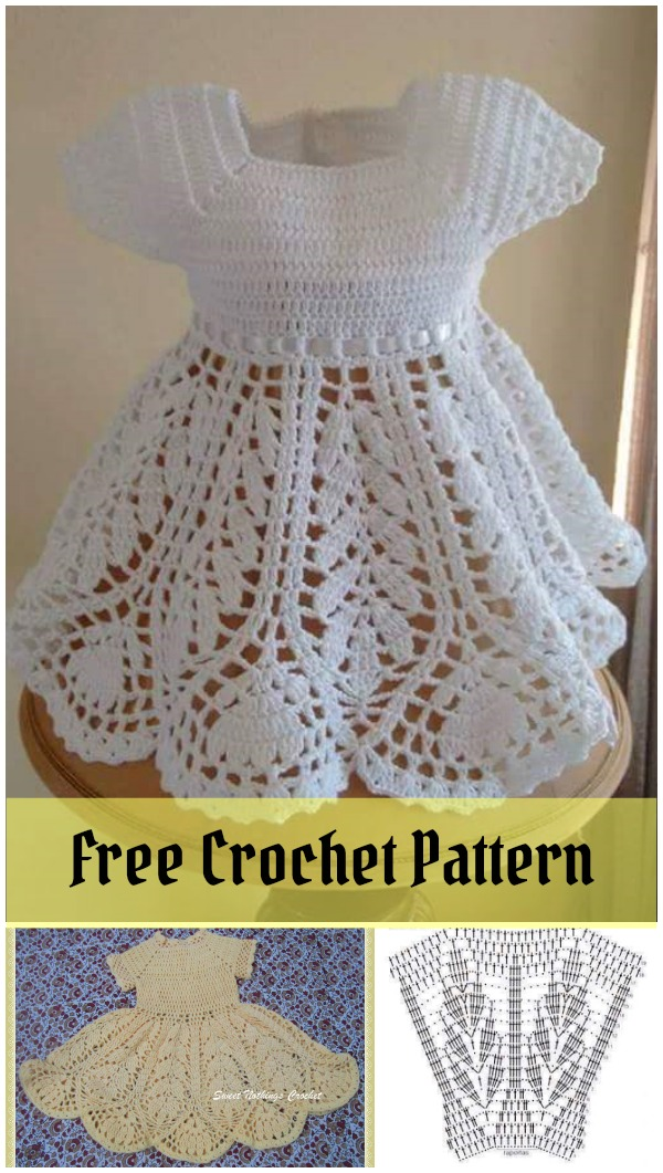 Beautiful Lotus Baby Dress Free Crochet Pattern Enchanting Free Crochet Pattern