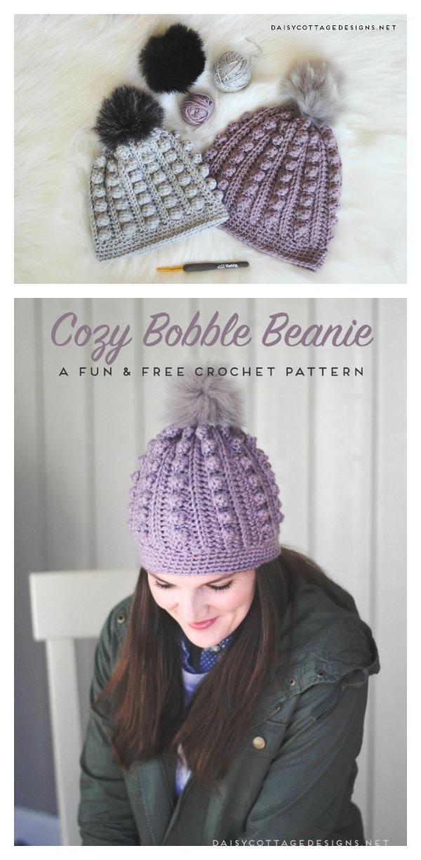 Bobble Beanie Free Crochet Pattern