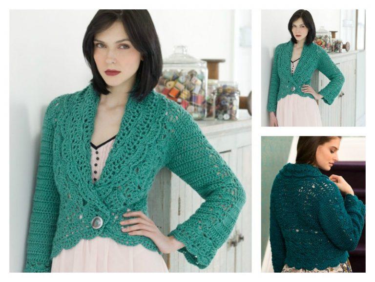Filigree Cardigan Free Crochet Pattern