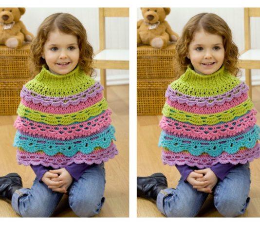 Girl's Ruffle Capelet Free Crochet Pattern