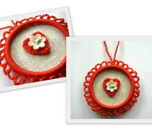 Heart Ornament Free Crochet Pattern