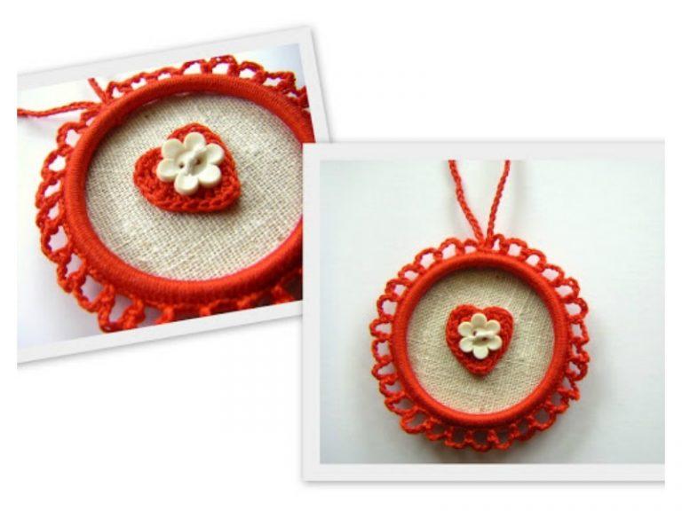 Heart Ornament Free Crochet Pattern