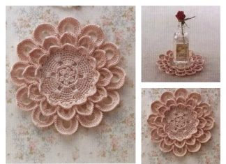 Pretty Flower Doily Free Crochet Diagram