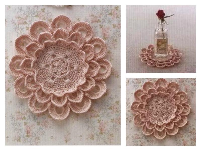 Pretty Flower Doily Free Crochet Diagram