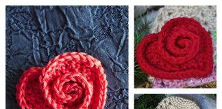 Rosy Heart Free Crochet Pattern