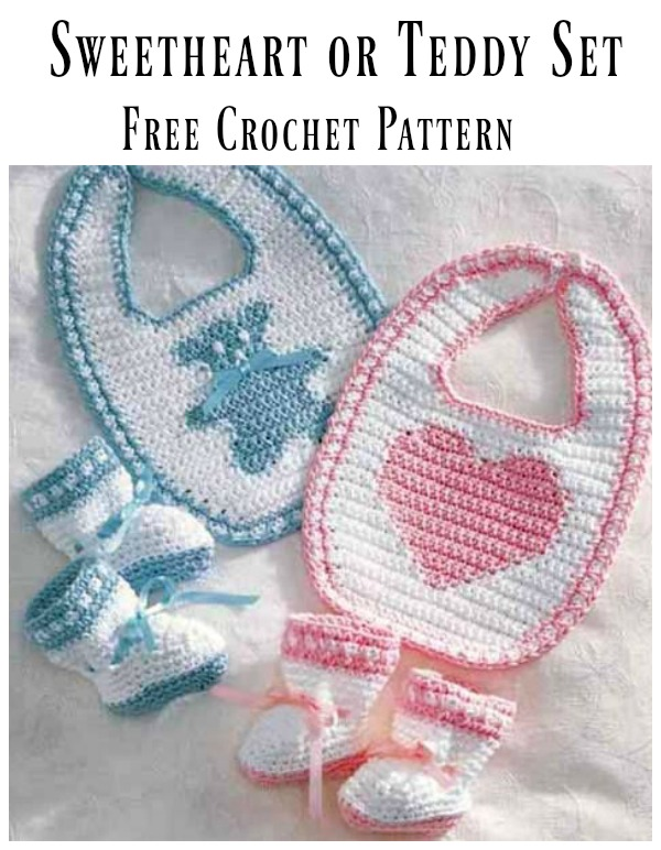Sweetheart or Teddy Set Free Crochet Pattern