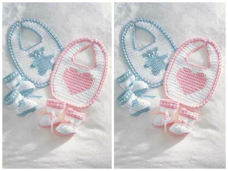 Sweetheart or Teddy Set Free Crochet Pattern