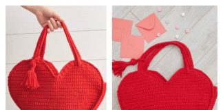Valentine Heart Tote Bag Free Crochet Pattern