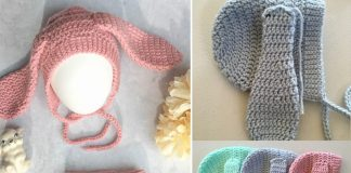 Baby Bunny Bonnet and Diaper Cover Set Pattern