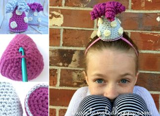 Party Hat DIY Headband Free Crochet Pattern