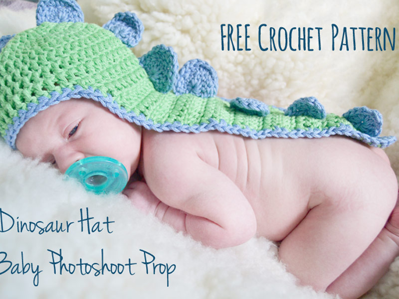 Babys Dino Hat With Cape Crochet Free Pattern