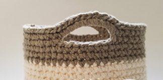 Easy Basket Crochet Free Pattern