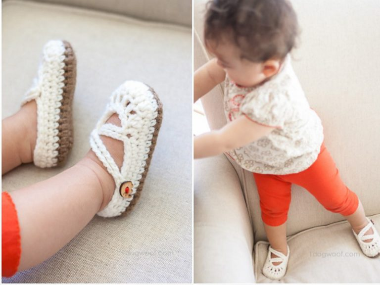 Double-Strapped Baby Mary Janes Crochet Free Pattern