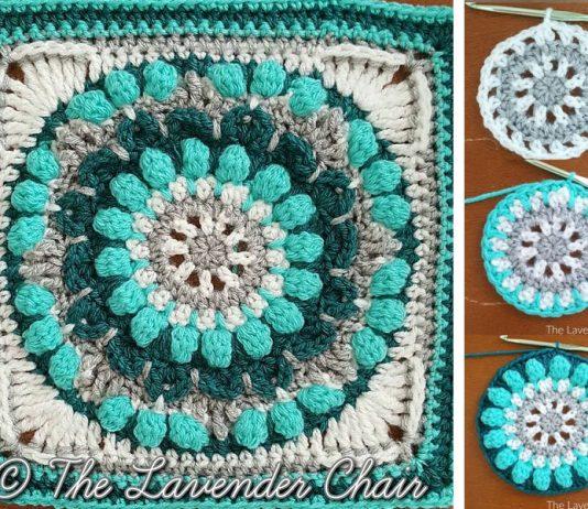 Petunia Roundabout Mandala Square Crochet Free Pattern