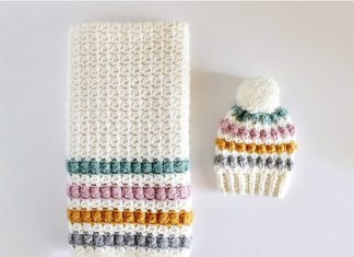 Crochet Berry Stitch Baby Hat & Blanket