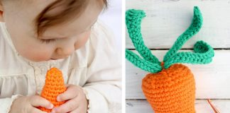 Baby Toy A Yummy Carrot Crochet Free Pattern
