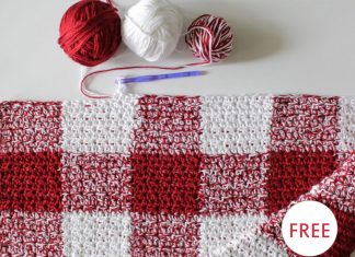 Red Gingham Blanket Free Crochet Pattern