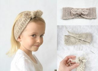 naturally chic tie-up crochet headband free pattern
