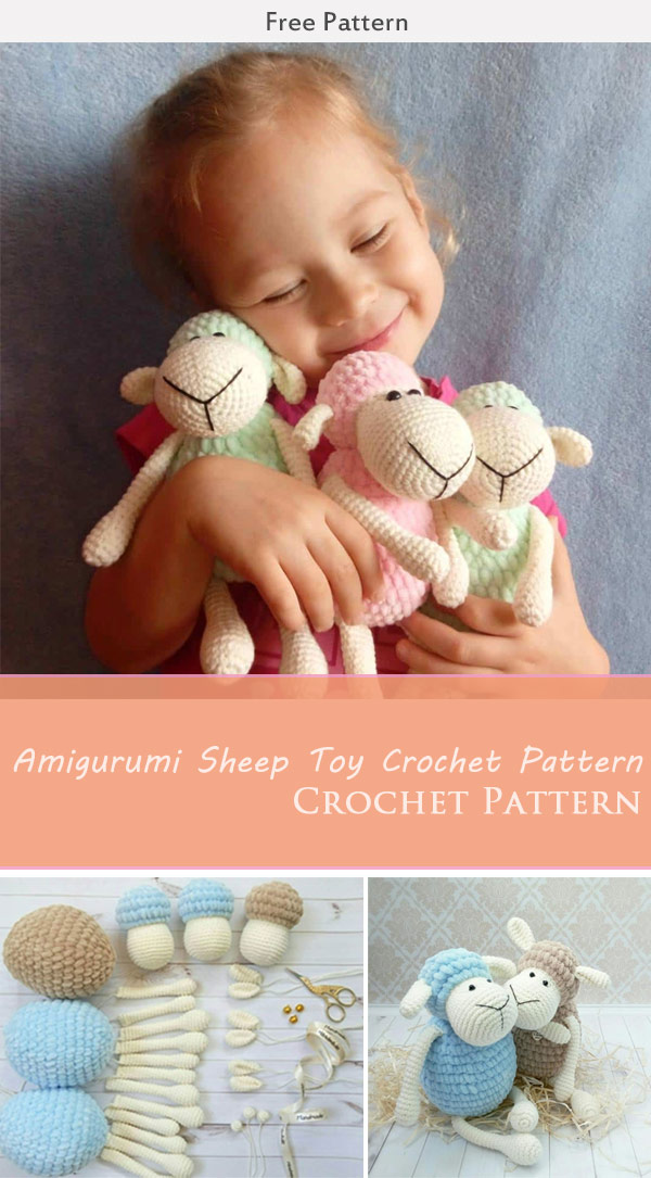 Amigurumi Sheep Toy Free Crochet Pattern