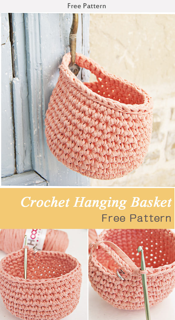 Crochet Hanging Basket Free Pattern