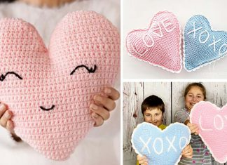 Cute Heart Pillow Free Crochet Pattern