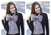 Bow Scarf Free Crochet Pattern