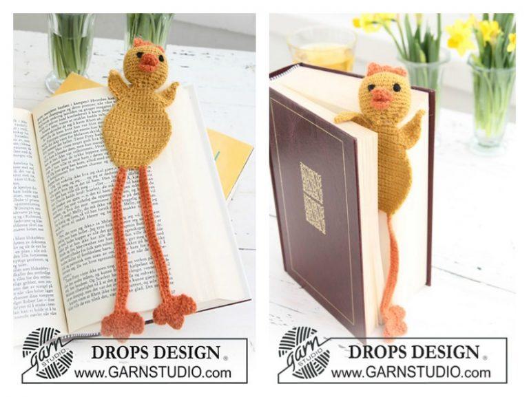 Chicken Bookmark Free Crochet Pattern