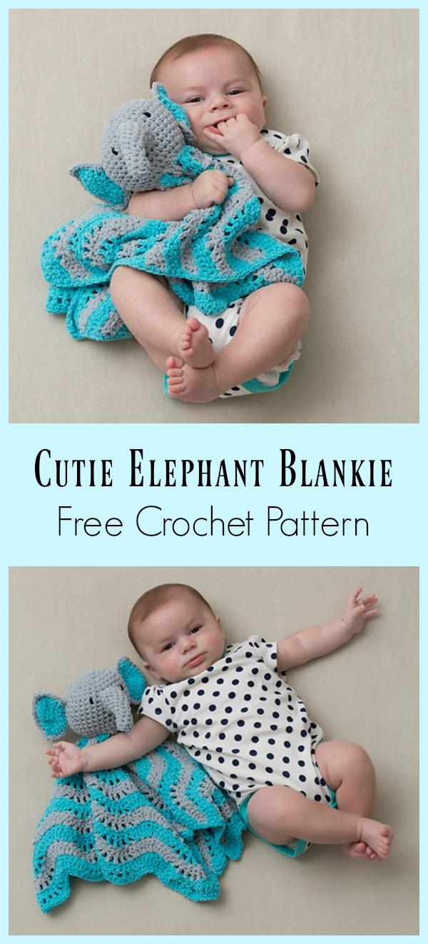 Cutie Elephant Blankie Free Crochet Pattern