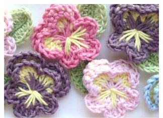 Easy Crochet Pansy Free Pattern