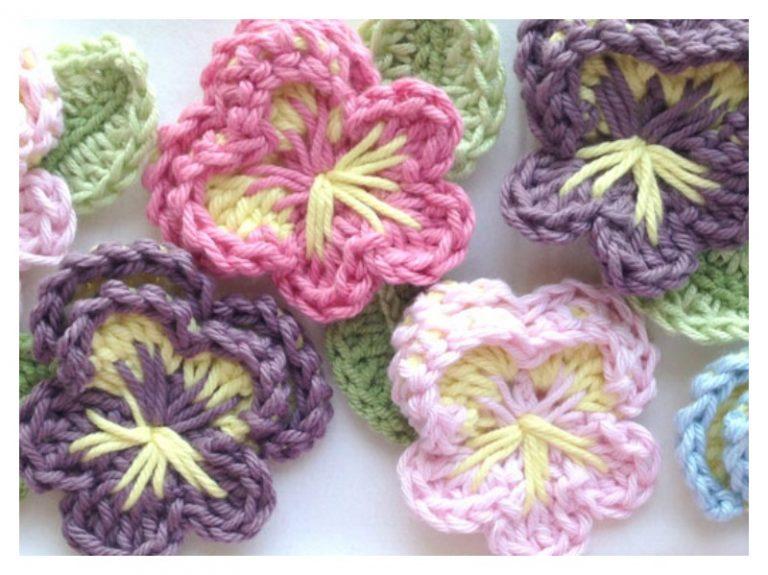 Easy Crochet Pansy Free Pattern