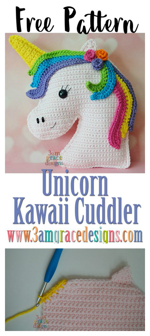 Unicorn Kawaii Cuddler Free Crochet Pattern