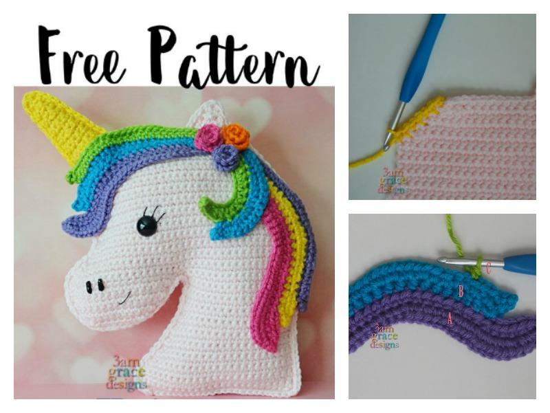 Unicorn Kawaii Cuddler Free Crochet Pattern Cool Unicorn Crochet Pattern