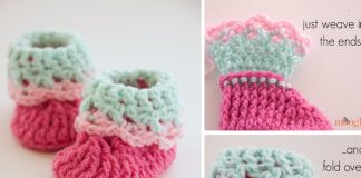 Love Newborn Baby Booties Crochet Free Pattern