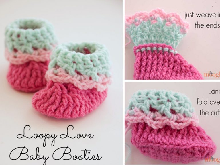 Love Newborn Baby Booties Crochet Free Pattern