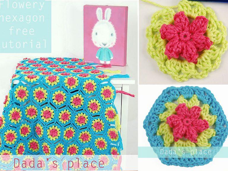 Flowery Hexagon Free Crochet Pattern
