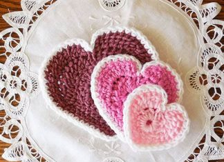 Hearts In 3 Sizes Free Crochet Patterns