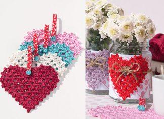 Granny Hearts Crochet free pattern