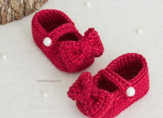 RUBY RED MARY JANE BOOTIES - baby crochet Free Pattern