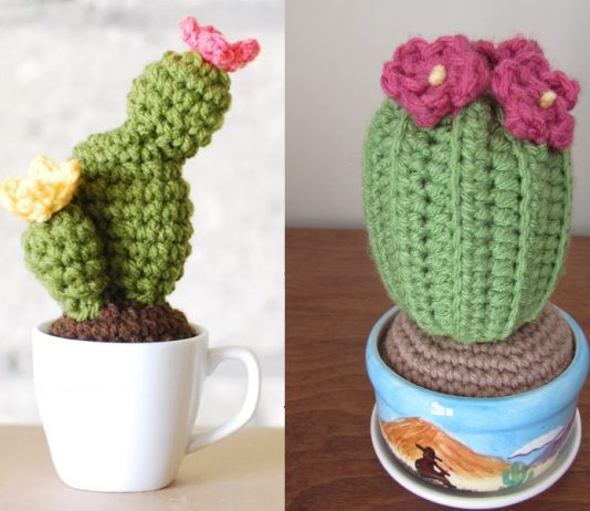 Crochet Cactus In A Cup Free Pattern